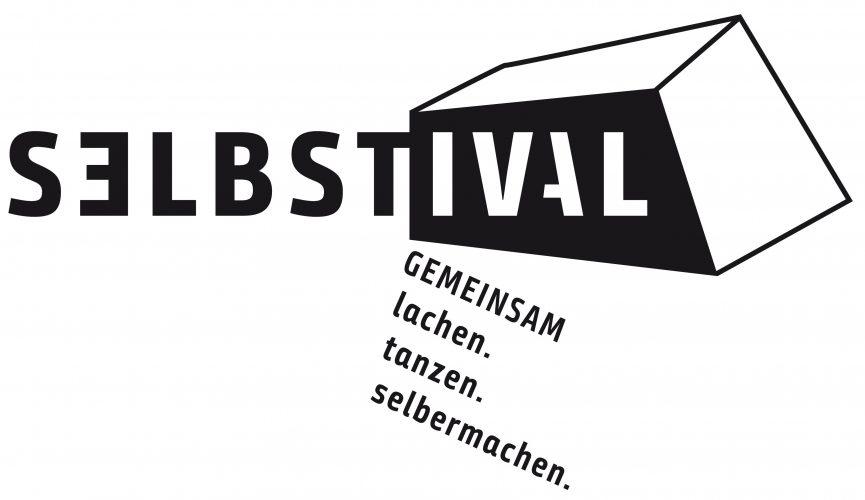 Logo: Schwarz weißer Schriftzug Selbstival