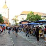 Blick auf den Jakobsplatz Richtung Weißer Turm